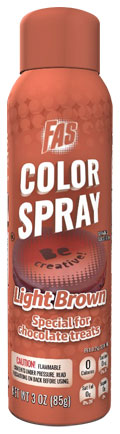 Light Brown Food Color Chocolate Spray